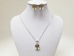 14k Gold & 925 Silver Set for Women