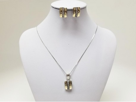 14k Gold & 925 Silver Set for Women