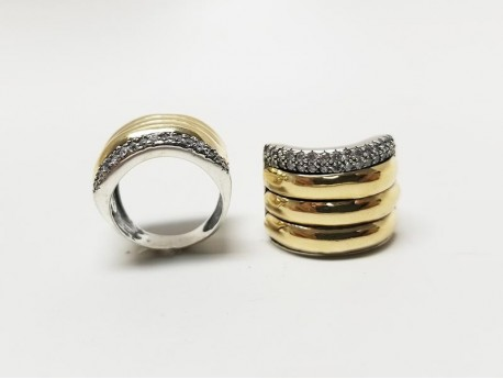 14k Gold & 925 Silver Ring for Women