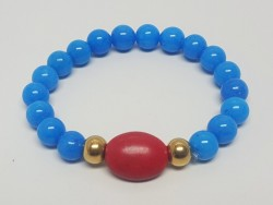 Stainless Steel and Natural Stone Bracelet for Women